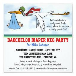 Dadchelor Diaper Keg New Dad Cute Party
