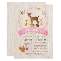 Deer Woodland Animals Baby Shower