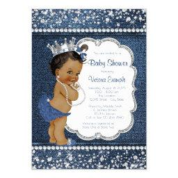 Denim Diamond African American Girl Baby Shower