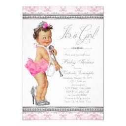 Diamond Pearl High Heels Little Lady Baby Shower
