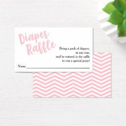 Diaper Raffle Ticket-Pink Script