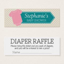 Diaper Raffle Tickets -  Game Pink Girl
