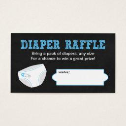 Diaper Raffle Tickets / Chalkboard boy baby shower