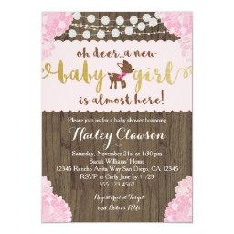 Doe Deer Rustic Girl Baby Shower