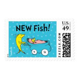 Dr. Seuss   One Fish - Boy Baby Shower Postage