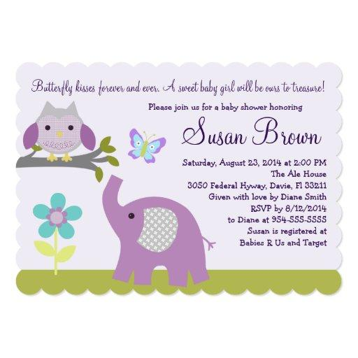 Dreamland Owl Elephant  Invite