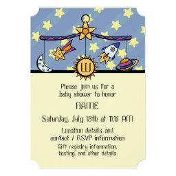 Dreams of Space Mobile Baby Shower