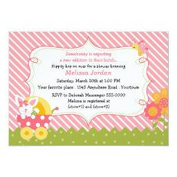 Easter Bunny Baby Girl Shower