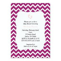 Eggplant and Pink Chevron Baby Shower
