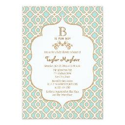 Eggshell Blue Gold Moroccan Baby Boy Shower