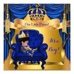 Elegant  Boy Prince Royal Blue Gold