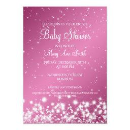 Elegant Baby Shower Winter Sparkle Pink