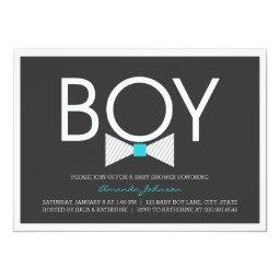 Elegant Bow Tie Boy Baby Shower