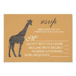 Elegant Clay Giraffe Wedding RSVP