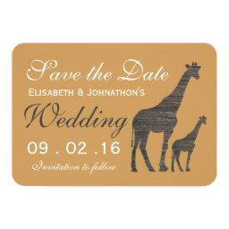 Elegant Clay Giraffe Wedding Save The Date