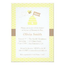 Elegant Cute Bumble Bee Baby Shower