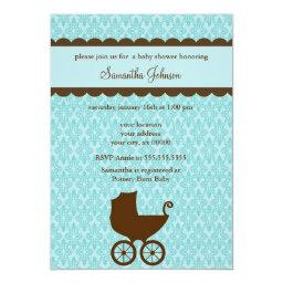 Elegant Damask and Baby Carriage
