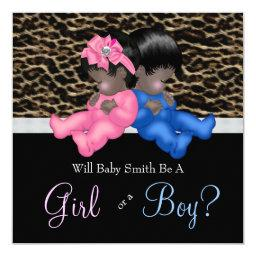 Elegant Leopard Baby Gender Reveal Shower
