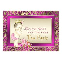 Elegant Pink and Gold Girls Tea Party