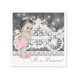 Elegant Pink and Gray Princess  Napkin