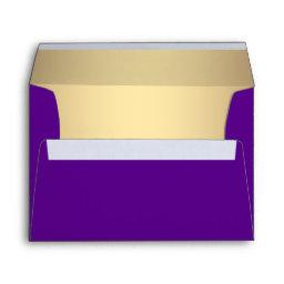 Elegant Purple and Gold Linen Envelopes