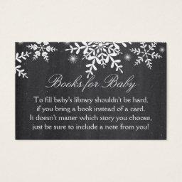 Elegant Snowflakes Baby Shower Bring a Book