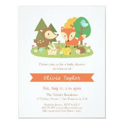 Elegant Woodland Animal Baby Shower