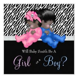 Elegant Zebra Baby Gender Reveal Shower