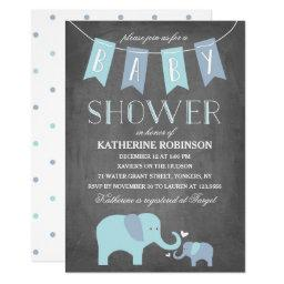 Elephant Baby Blue | Baby Shower