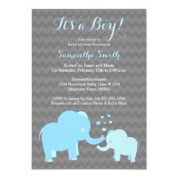 Elephant   Blue Grey Chevron