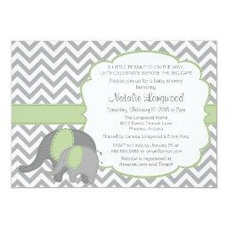 Elephant   Chevron mint green
