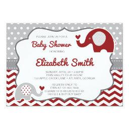 Elephant Baby Shower Invitation, EDITABLE COLOR