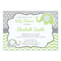 Elephant  Invitation, EDITABLE COLOR