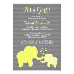 Elephant Baby Shower  Yellow and Grey