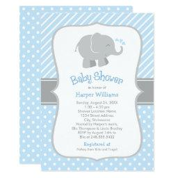 Elephant Baby Shower  | Blue and Gray