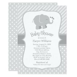 Elephant Baby Shower  | Gray and White