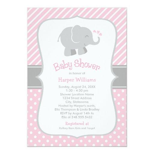 Elephant  | Pink and Gray