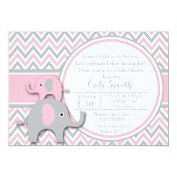 Elephant Baby Shower , Pink and Gray