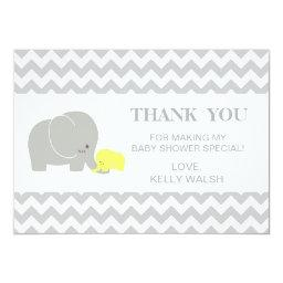 Elephant  Thank You Note Chevron
