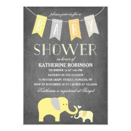 Elephant Baby Yellow | Baby Shower