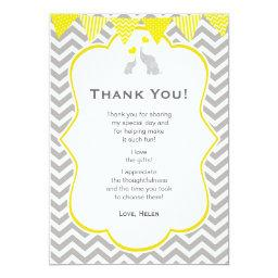 Elephant Chevron Yellow  Thank You