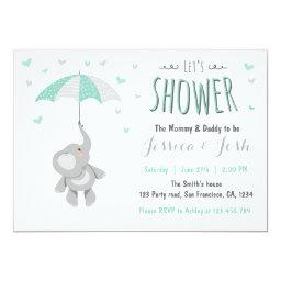 Elephant Little Peanut Baby Shower  Mint