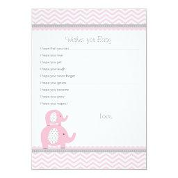 Elephant Wishes for Baby Advice Cards