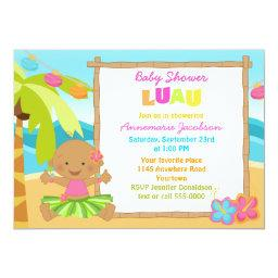 Ethnic Girls Luau Baby Shower