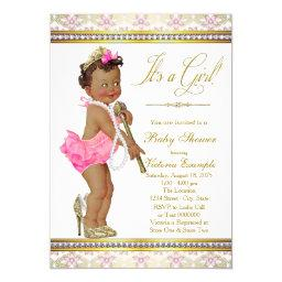 Ethnic Little Lady Pearl High Heels Baby Shower