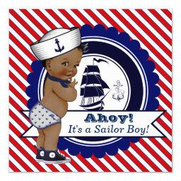 Ethnic Little Sailor Nautical Baby Shower