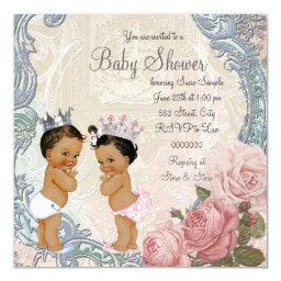 Ethnic Prince and Princess Twin Baby Shower