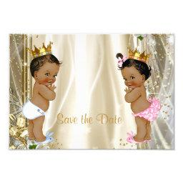 Ethnic Prince Princess Baby Shower Save The Date