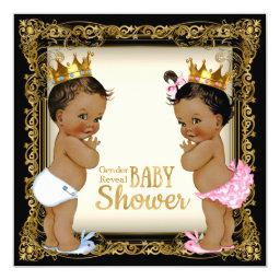 Ethnic Prince Princess Gender Reveal Baby Shower