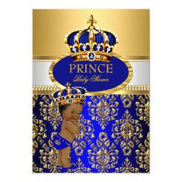Ethnic Prince Royal Blue Crown Baby Shower